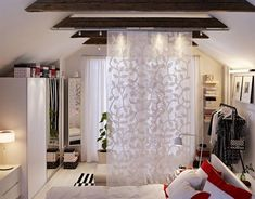 Panel curtain room divider