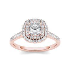 <li>White diamond engagement ring</li> <li>14k rose gold jewelry</li> <li><a href='http://www.overstock.com/downloads/pdf/2010_RingSizing.pdf'><span class='links'>Click here for ring sizing guide</span></a></li>