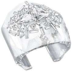 Accent cuff by Swarovski Swarovski Bracelet, Swarovski Crystals, Cuff Jewelry, Jewellery, Crystal Wedding, Boutique, Clear Crystal, Bangles, Gems