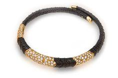 A diamond and eighteen karat gold, enamel necklace, Marina B., 1981