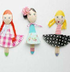 Faça você mesmo: boneca de colher de pau