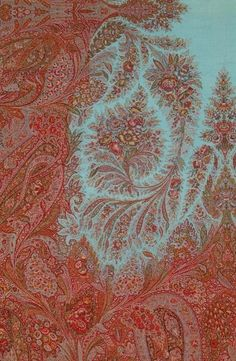 c1870 Antique Paisley Shawl |  Reproduced with permission from the National Trust for Scotland and the Paisley Museum