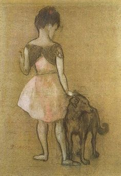 Pablo Picasso, Girl with a Dog 1905 on ArtStack #pablo-picasso #art