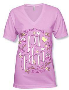 Pi Beta Phi hand drawn T-shirt Sigma Alpha Omega, Kappa Delta, Alpha Chi, Sorority And Fraternity, Sorority Shirts, Pi Beta Phi, Phi Mu, Cute Designs, Shirt Designs