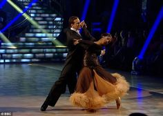 Elegant: Actress Sunetra Sarker and Brendan Cole took on the Viennese Waltz to Cilla Black's Anyone Who Had a Heart