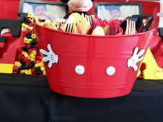 MICKEY MOUSE INSPIRED FORKS NAPKINS SPOONS AND KNIFES SETUP