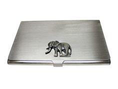 Textured Elephant Business Card Holder