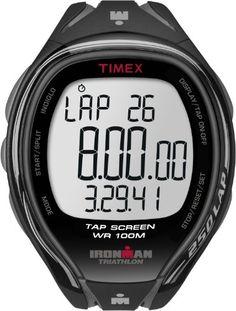 a1f67bc97d8 Timex Men%3Fs T5K588 Ironman Sleek 250-Lap TapScreen Black%2FGray Resin  Strap