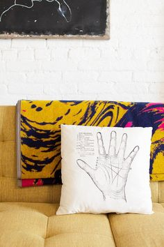 """Check out Lockerz Faves's """"The Rise and Fall Palmistry Pillow"""" decalz @Lockerz"""