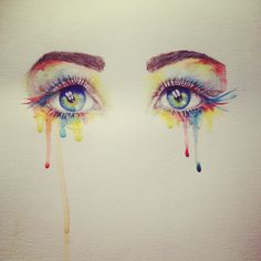 Watercolor eyes - by Miranda Watson