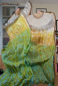Silk Fan Veils by Beloved Freya for Belly Dance & by BelovedFreya, $110.00