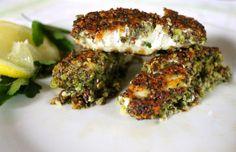 Crunchy chia fish fingers