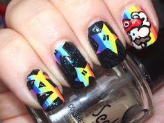 nintendo nerdy nails :D
