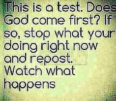 God always comes first.