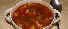 Prawdziwy węgierski bogracz - przepis - platessa - wielkiezarcie.com Thai Red Curry, Chili, Soup, Cooking, Ethnic Recipes, Polish, Ad Home, Essen, Enamel