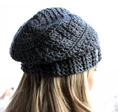 Crochet Slouchy Hat Pattern, Slouchy Beanie Crochet Pattern, Crochet Slouchy Hat Beanie Pattern with Rhinestones Beads