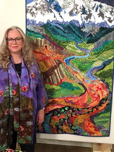 "Luana Rubin, guest on Quilting Arts TV Series 2200, with her quilt ""Rocky Mountain Poison."" #QATV #artquilt #quilter"