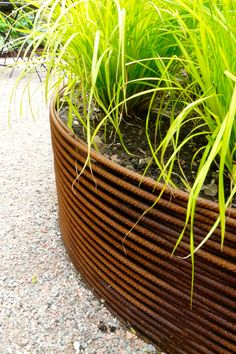 Great planter idea - how hard is this to make though? [Woven rebar raised bed designed by Carolyn Grohmann]