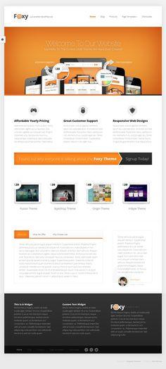 Foxy #WordPress Theme http://www.elegantthemes.com/affiliates/idevaffiliate.php?id=20259=6500 #web #design #club