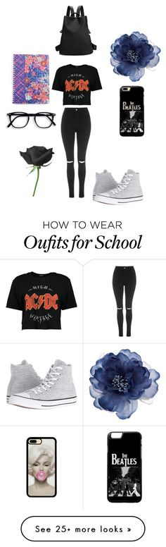 """slay at school"" by teresamontora on Polyvore featuring Boohoo, Topshop, Converse, Accessorize and Vera Bradley"