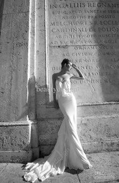 Wholesale 2013 Sexy A-Line Sweetheart Chapel Train Lace Backless Chiffon Wedding Dresses ID1215, Free shipping, $130.8-149.5/Piece | DHgate