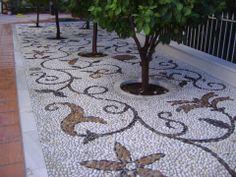 Pavimento en la Urbanización Monte Luz de Granada. Obra de Empedrados los Picantes http://www.empedrados.com