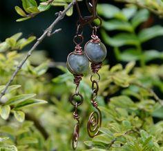 Jade earrings with spirals. £8.00