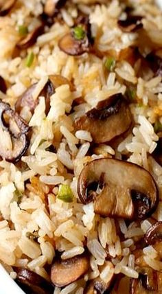 Spicy Mushroom Rice- very easy and so so delicious! Lots of flavour :) Great the next day with some pork added in.