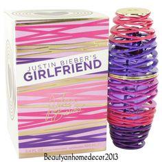 Girlfriend by Justin Bieber 3.4 oz EDP Spray Perfume for Women New in Box #JustinBieber