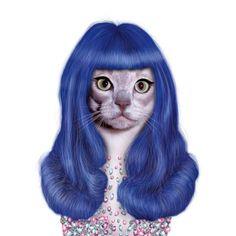 Katy Perry com suas madeixas roxas (Takkoda)