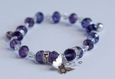 A personal favorite from my Etsy shop https://www.etsy.com/listing/292281311/stretchy-purple-crystal-charms-bracelet