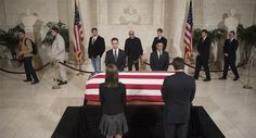 Four of Scalia's former clerks stand over his casket as mourners pass by inside the Supreme Court. John Shinkle / POLITICO   Read more: http://www.politico.com/gallery/2016/02/photos-from-scalia-funeral-002204#ixzz40dyXuO00