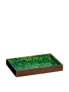 56% OFF Mela Artisans Handcrafted Inlaid Bone Serving Tray, Green/Turquoise