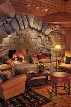 40 Modern Rustic Italian Ideas For Your Dream Home Design When it comes to purchasing furniture, it is not always an easy task and can get complicated. There are many different types of furniture and interior. Cabin Fireplace, Rustic Fireplaces, Fireplace Design, Stone Fireplaces, Corner Fireplaces, Fireplace Seating, Rustic Home Design, Dream Home Design, Lake Placid Lodge