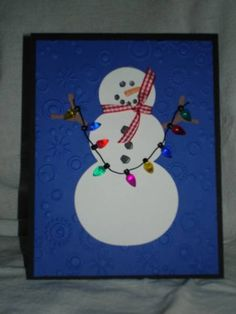 Festive snowman Cards and Paper Crafts at Splitcoaststampers