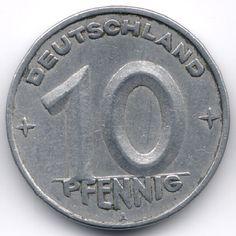 DDR 10 Pfennig 1950 A Veiling in de Duitsland,Europa (niet of voor €),Munten,Munten & Banknota's Categorie op eBid België