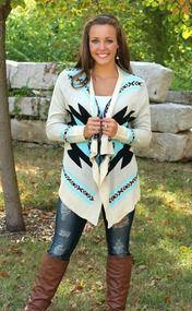 Navajo Cardigan Aqua CLEARANCE!!!
