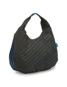 Breezy Year Grey - A youthful graphic printed grey hobo bag by Baggit. http://www.baggit.com/