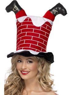 e2831064060 Chimney With Santa Legs Hat Diy Christmas Hats