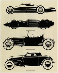 "Published in ""Hot Rod"" magazine during the 1940s and 1950s , original illustrations by Rex Burnette."