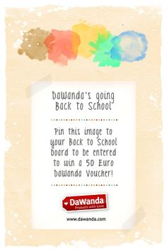 Repin this image to your Back to School board and you could win a 50 Euro DaWanda voucher