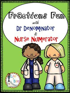 """Let me introduce to you Doctor Denominator & Nurse Numerator. In this resource pack you will find: 6 colour concept posters (2 in dyslexic font), 22 mini fraction posters/learning centre cards, 16 practice worksheets, 2 fractions mini booklets, 2 fraction wall posters, 2 """"How to Say Fractions"""" wall posters PLUS Instructions and ideas."""