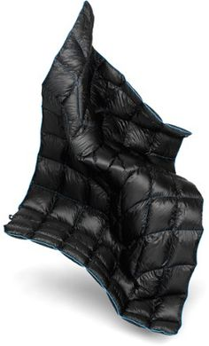 For the weight and space-conscious traveller, the Rumpl Down Puffy blanket can be used as a sleeping bag while backpacking during mild months, or as a warm companion at the family campsite. Available at REI, 100% Satisfaction Guaranteed.