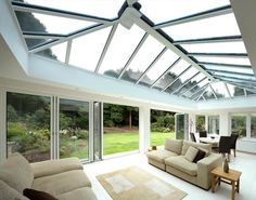 Large conservatory with glass from floor-to-ceiling to provide an abundance of natural light in. & The 22 best Glass Roof Ideas images on Pinterest | Glass ceiling ...