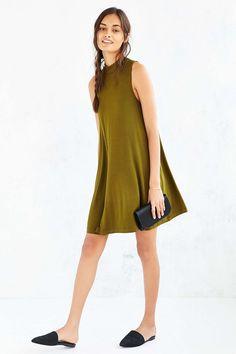 Silence + Noise Swing Mock-Neck Mini Dress - Urban Outfitters