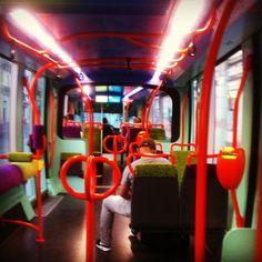 Montpellier Tramway coloré