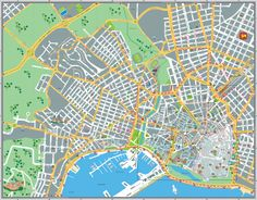 Map of Palma de Mallorca at enough resolution to be printed and to be used.