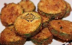 Fried Zucchini Recipe  http://www.thisiswhyimfull.com/dinner/fried-zucchini