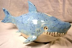 Clay Great White Sharky Bank