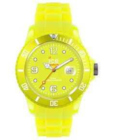 Ice-Watch Watch, Womens Ice-Flashy Neon Yellow Silicone Strap 43mm 101976 - All Watches - Jewelry & Watches - Macys